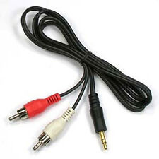 "1/8"" Male Stereo Mini plug Jack TO 2 RCA Stereo Phono Audio Speaker CABLE 3.5mm"