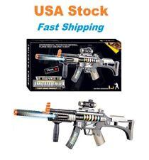 Light Up Combat Rifle Machine Gun Toy, M4 Carbine, Light/Sound Battery Need 29''