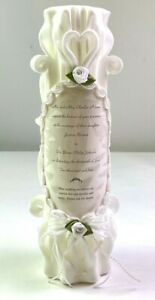 Wax Works Sculpted Wedding Designs Invitation Candles Decorative Multi Colors