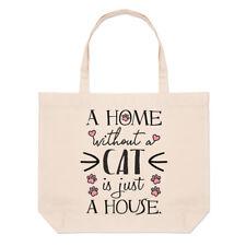 A Domicile sans un Cat Is Just House Lin Grand Plage Sac Fourre-Tout - Fou