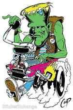 Monster Rod STICKER Decal Poster Artist Coop CP1 Frankenstein LARGE SIZE