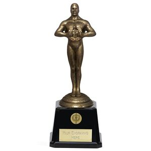 """9 1/2"""" 'Oscar' style Achievement Award (RRP £7.99) with free engraving/postage"""