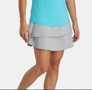 NEW FootJoy Performance Layered Skort Golf Skirt LARGE heather gray  NWT