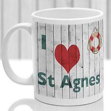 St Agnes Tazza, Regalo per ricordare Cornovaglia, ideale regalo, design personalizzato.