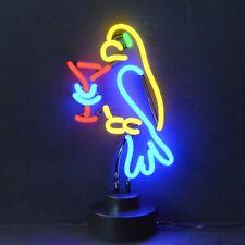 Neon Sign Sculpture Tropical Bird Parrot table wall window lamp hand blown glass