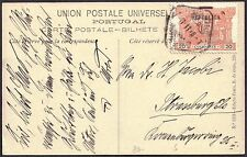 Portugal 1911 20r Postage Due used for Postage Lisbon 7 Nov 1911