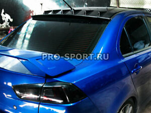 Mitsubishi Lancer 2007- unpainted rear windshield spoiler roof
