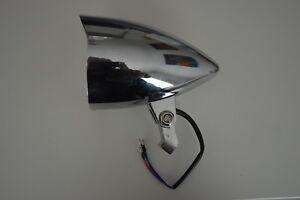 "Torpedo Shape Chromed Cast Aluminium 4.7"" Motorcycle Motorbike Headlight 55/60w"
