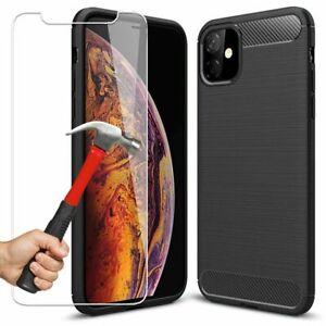 Coque iPhone 11 Pro Max XR X 6S 7 8 + Protection Ultra Thin + Verre Trempé Ecran