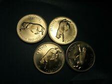 Canada 1967 quarters  (4pcs)   unc    silver      BOBCAT