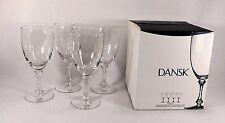 RARE DANSK KOMPAS ALL PURPOSE BEVERAGE STEMS-WINE GLASSES SET OF 4 NEW IN BOX