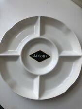 Jacobs Cracker Ceramic White Cheese Dip Sharing Serving Dish Platter Party Plate