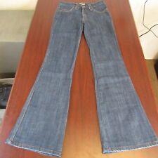 Frankie B Womens Jeans Size 2x30 F Pocket Low Rise Flare Dark Wash