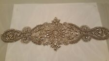 Hand beaded Swarovski beaded dress motif belt accessory