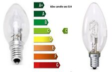 5 X 42w 60w Candle Ses E14 Small Screw Long Life Clear Halogen Light Bulb Ever