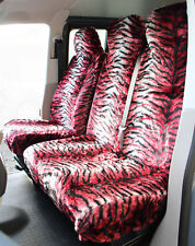LDV Maxus (05-09) RED TIGER Faux FUR VAN Seat COVERS - Single + Double