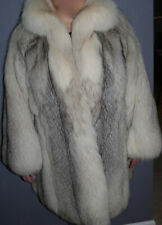YVES SAINT LAURENT Fourrures Silver Fox Fur Coat. L/XL/XXL