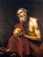 """Jusepe DE RIBERA-LA Penitent di Saint Jerome 1634 - 24 """"TELA"""