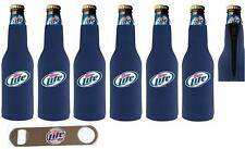 Miller Lite 6 Bottle Wrap Coozie Coolie & Opener New