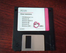 Floppy Disk SIIG PCI I/O Driver Installation 02-0400D DOS Windows