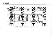 WILLYS LARK WING ACE EAGLE BERMUDA CUSTOM FRAME DIMENSION CHART DIAGRAM 4655BK