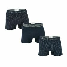 Men's Ben Sherman Langworth 3 Pack Elastic Waist Boxer Shorts in Blue