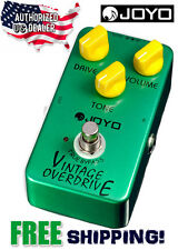 JOYO Crunch Distortion JF-01 Vintage Overdrive Effects Pedal FX Stompbox USA