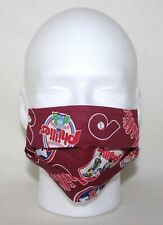 Handmade Adult MLB PHILADELPHIA PHILLIES LOGOS REUSABLE POCKET FACE MASK IN HAND
