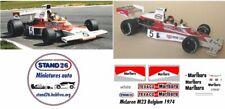 Decals McLaren M23 marlboro Fittipaldi Hulme Belgium GP Belgique 1974 1/43e