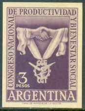 ARGENTINA. GJ 1058. PRODUCTION CONGRESS. IMPERFORATED ESSAY PROOF. VERY SCARCE!