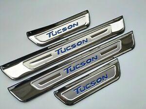 für Hyundai Tucson Zubehör Teile Edelstahl Schutz Einstiegsleisten Beschützer 19