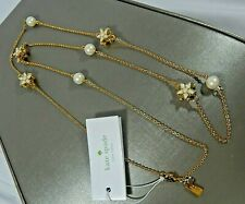 "KATE SPADE NWT WINDOW SEAT BOUQUET GOLD PLATED FAUX PEARL  32""  NECKLACE"