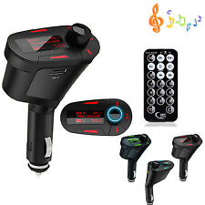 Car MP3 Audio PLAYER FM Transmitter USB SD Card AUX in Remote For iPhone 6 5S 4S