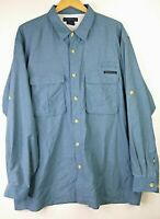Exofficio Long Sleeve Vented Plaid Shirt Men's XXL Fishing Hiking, EUC