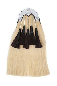 Black Watch Original Long Horse Hair Sporran White Body With 5 Black Tassels