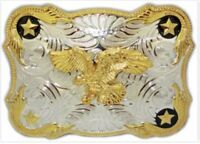 Belt Buckle Eagle Western Cowboy SILVER GOLD  HIGH QUALITY GUARANTEE MEN WOMEN