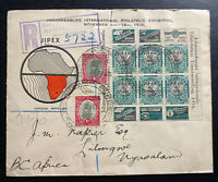 1936 Johannesburg South Africa First Day Cover FDC JIPEX Exhibition