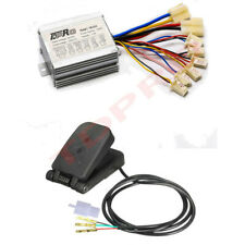 24v 350w Motor Brushed Speed Controller + Foot Pedal for E Bike ATV Scooter
