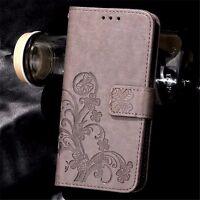 Funda libro flip piel sintetica diseño trebol Huawei Y6 II Compact