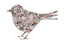 Swirly Bird Iron on transfer / A5 Size