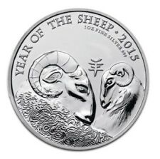 1oz 999 Silver 2£ Year of the Sheep 2015 Bullion Coins (UNC)