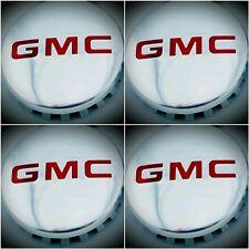 "4GMC POLISHED Aluminum wheel Center Cap 22837060 83mm 3.25"" Sierra Yukon Denali"