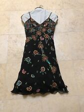 AFTERSHOCK SEQUINED SILK SLIP DRESS SIZE L GREAT FOR HOLIDAY PARTY NEW!
