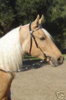 Black Leather Western Bridle w/Silver Ferrules Arab Cob Horse - Large Pony