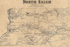 North Salem Purdys Croton Falls Goldens Bridge NY 1867 Map with Homeowners Shown