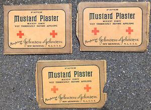 Antique Johnson & Johnson Mustard Plaster Envelopes