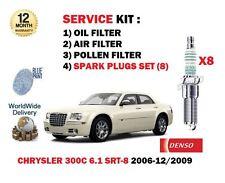 FOR CHRYSLER 300C 6.1 SRT8 2005-2010 OIL AIR POLLEN FILTER SET + 8 SPARK PLUGS