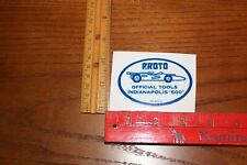 proto tool indy 500 sticker 70's style  usac nascar formula 1