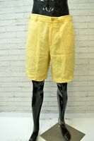 HENRY COTTON'S Uomo Bermuda 100% LINO Taglia 44 Pantalone Short Men's Casual