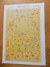 Original Book Print Grammar of Ornament Owen Jones 13x9 Inch Middle Ages 1